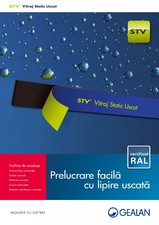 Vitraj Static Uscat - STV - Metoda de lipire a sticlei de cercevea GEALAN