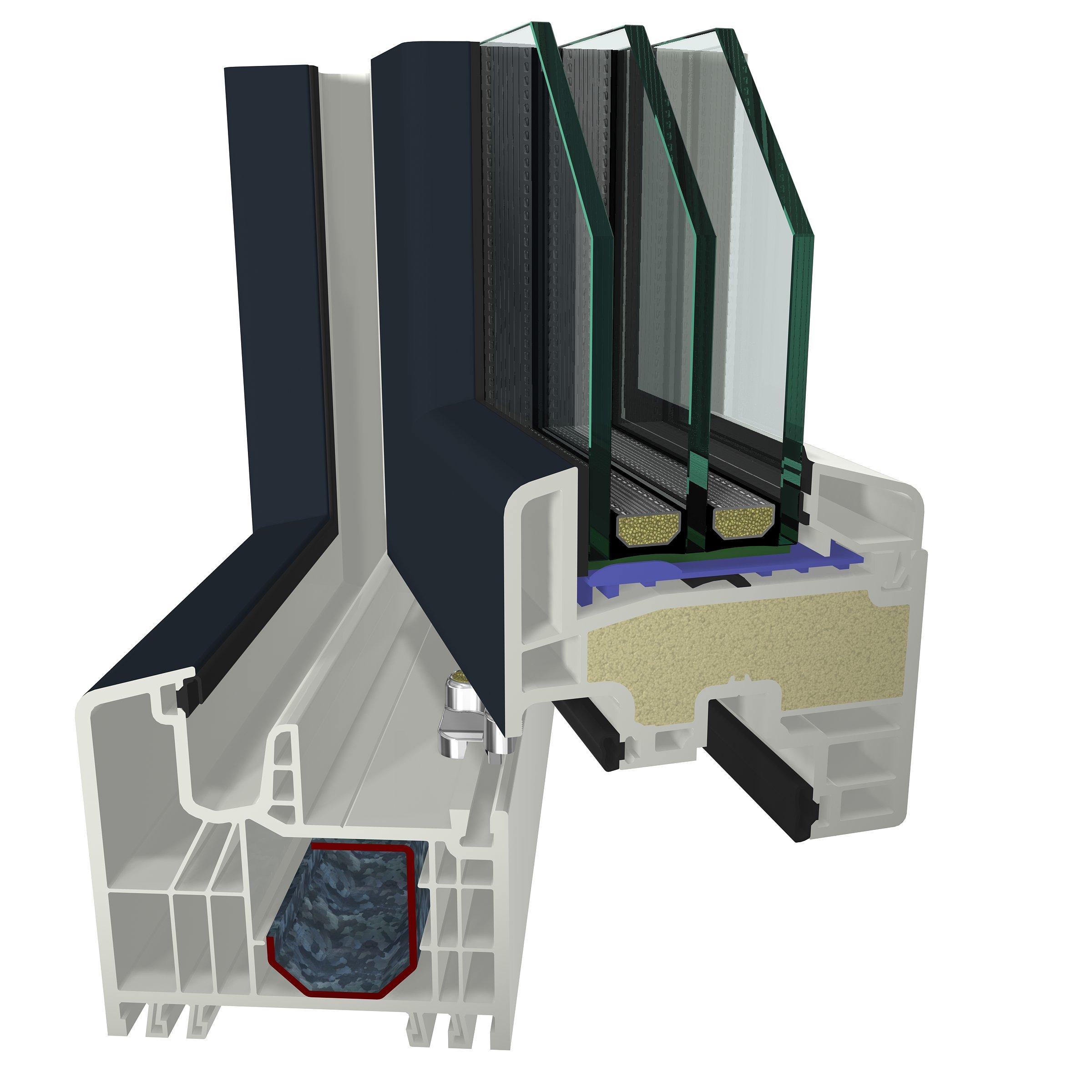 Profile din PVC pentru usi de intrare GEALAN - Poza 2