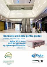 Declaratie de mediu pentru Rigips RF tip F 12.5