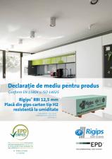 Declaratie de mediu pentru Rigips RBI tip H2 12.5