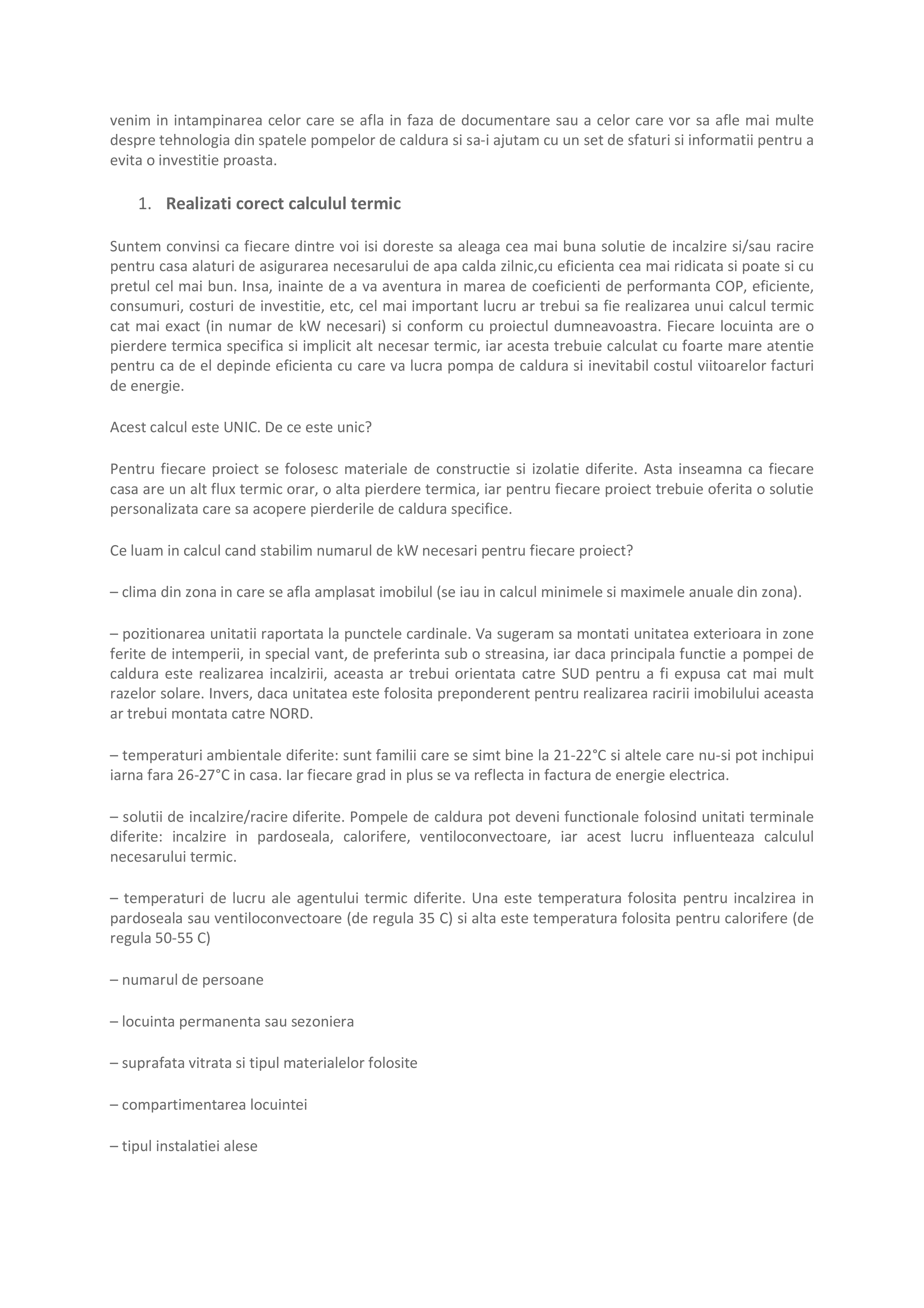Pagina 2 - Ghid de achizitie pompa de caldura Maxa Italia