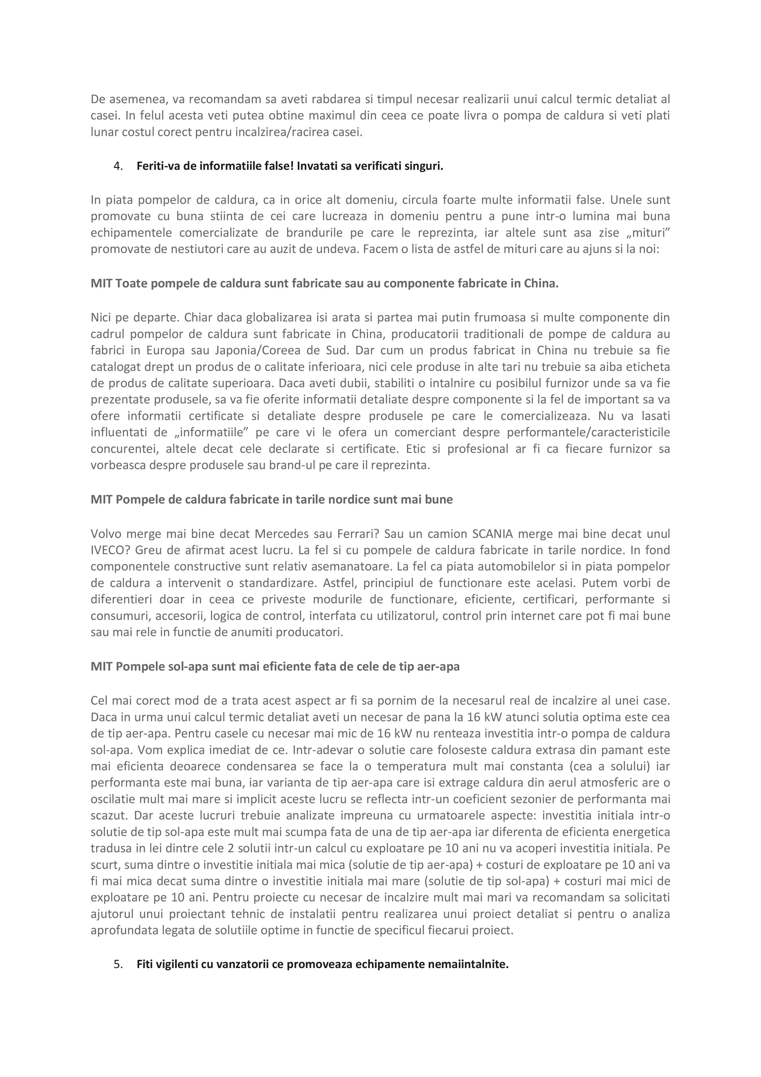 Pagina 4 - Ghid de achizitie pompa de caldura Maxa Italia