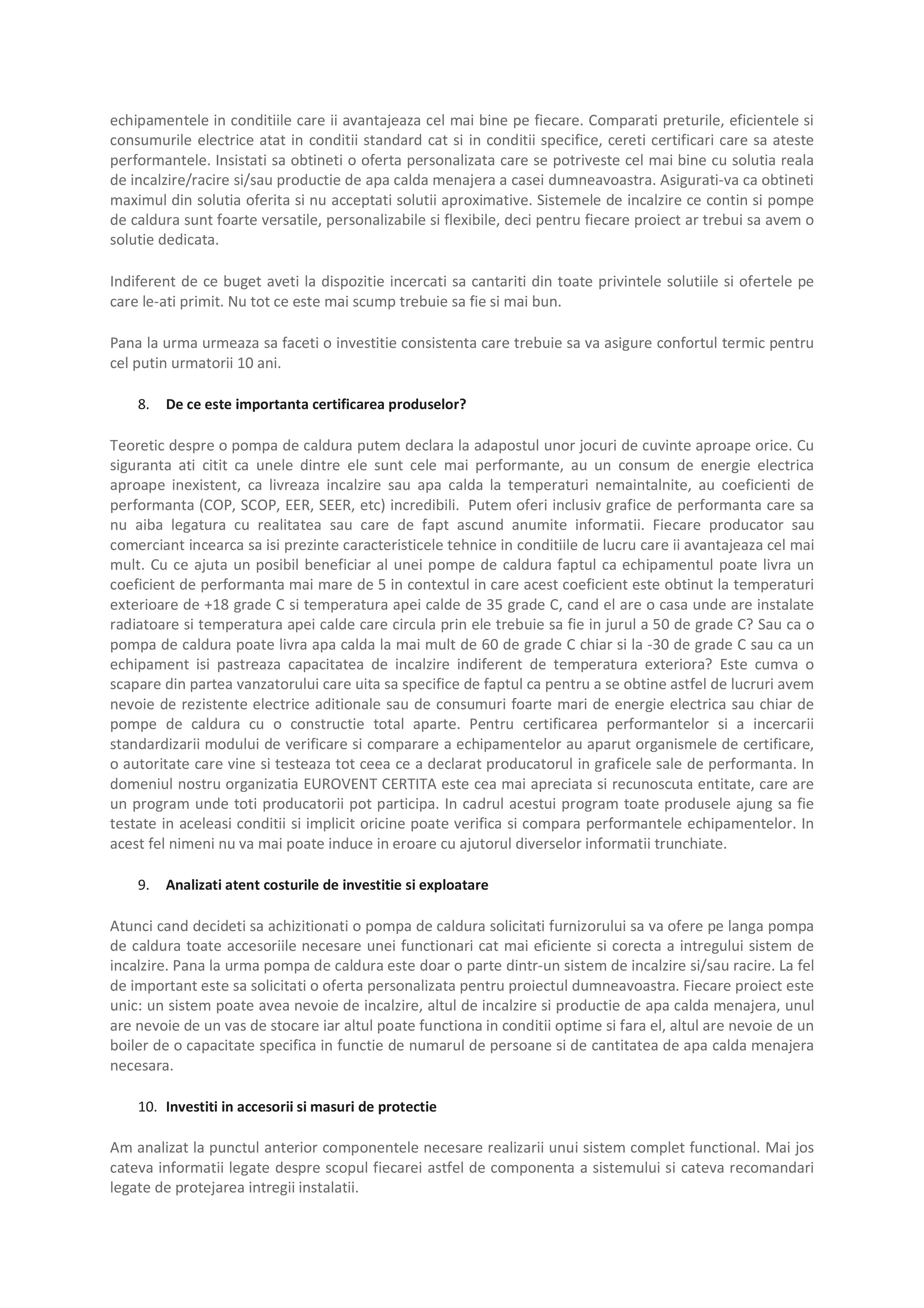 Pagina 6 - Ghid de achizitie pompa de caldura Maxa Italia