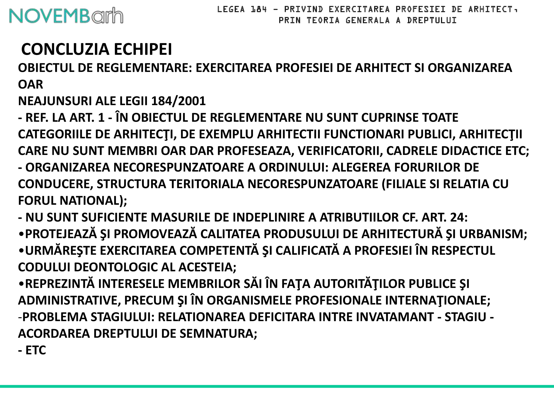 Pagina 19 - Legea 184 - privind exercitarea profesiei de arhitect, prin teoria generala a dreptului