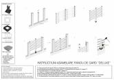 Instructiuni de asamblare panou de gard Deluxe