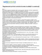 Regulamentul privind controlul de stat al calitatii in constructii