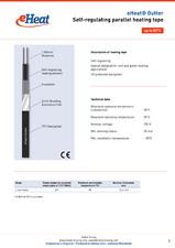 Cablu de incalzire autoreglabil - eHeat Gutter