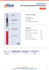 Cablu de incalzire autoreglabil - eHeat Micro