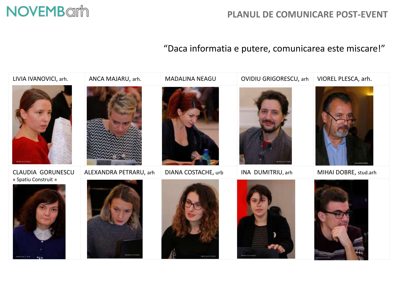 Pagina 1 - Planul de comunicare post-event