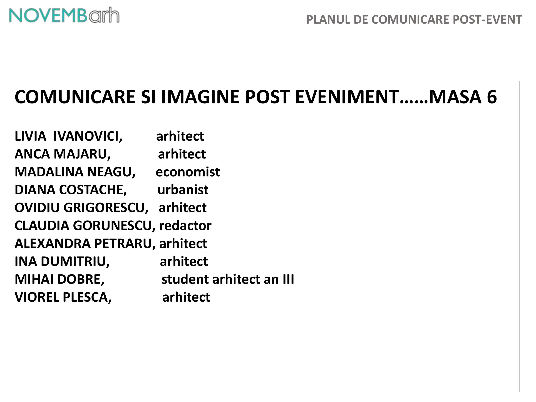 Pagina 8 - Planul de comunicare post-event