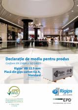 Declaratie de mediu pentru Rigips RB tip A 12.5