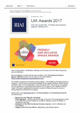 """UIA lanseaza """"Friendly and Inclusive Spaces Awards 2017"""""""