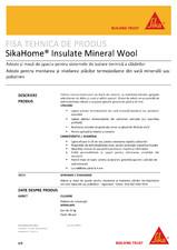 Adeziv pentru termosistem cu vata minerala SikaHome Insulate Mineral Wool