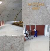 Slefuirea unei pardoseli din beton .