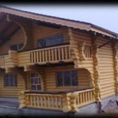 Case din lemn rotund calibrat