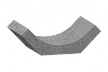 Sant trapezoidal prefabricat din beton R9 - Rigole carosabile