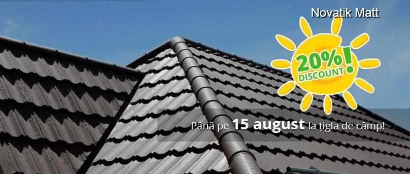 Promotie tigla metalica NOVATIK pana la 15 august - Promotie tigla metalica NOVATIK pana la 15