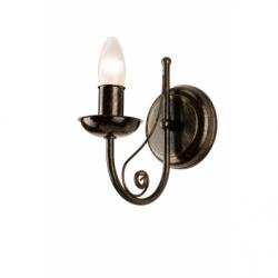 Aplica Donato negru 1x40W E14, metal - Iluminat corpuri de iluminat