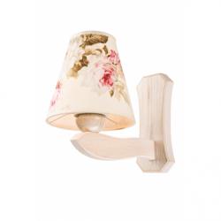 Aplica Aleksandra alb antic 1x60W E27, textil - Iluminat corpuri de iluminat