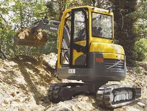 Miniexcavator - ECR38 - Excavatoare compacte - Short Swing Radius - Volvo