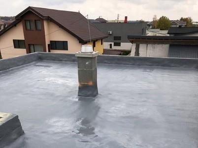 Detaliu impermeabilizare acoperis bloc - Hidroizolatii blocuri cu poliuree