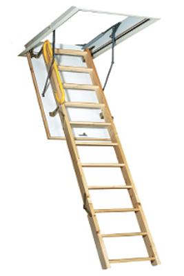 Scara pe structura din lemn Ecotop - Gama de scari ESCAMOTABILE