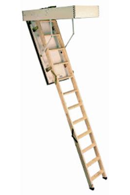 Scara pe structura din lemn Isofirewood - Gama de scari ESCAMOTABILE