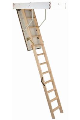 Scara pe structura din lemn Isowood - Gama de scari ESCAMOTABILE