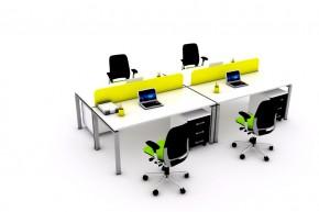 Ansamblu 4 birouri CLUB cu panouri despartitoare-CLBRC16 P160 - Solutii complete executive - program CLUB