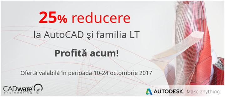25% reducere la licentele AutoCAD AutoCAD LT si familia LT - 25% reducere la licențele AutoCAD