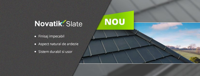 Acoperis Novatik SLATE - Novatik Slate si Novatik Wood - cele mai noi profile din portofoliul