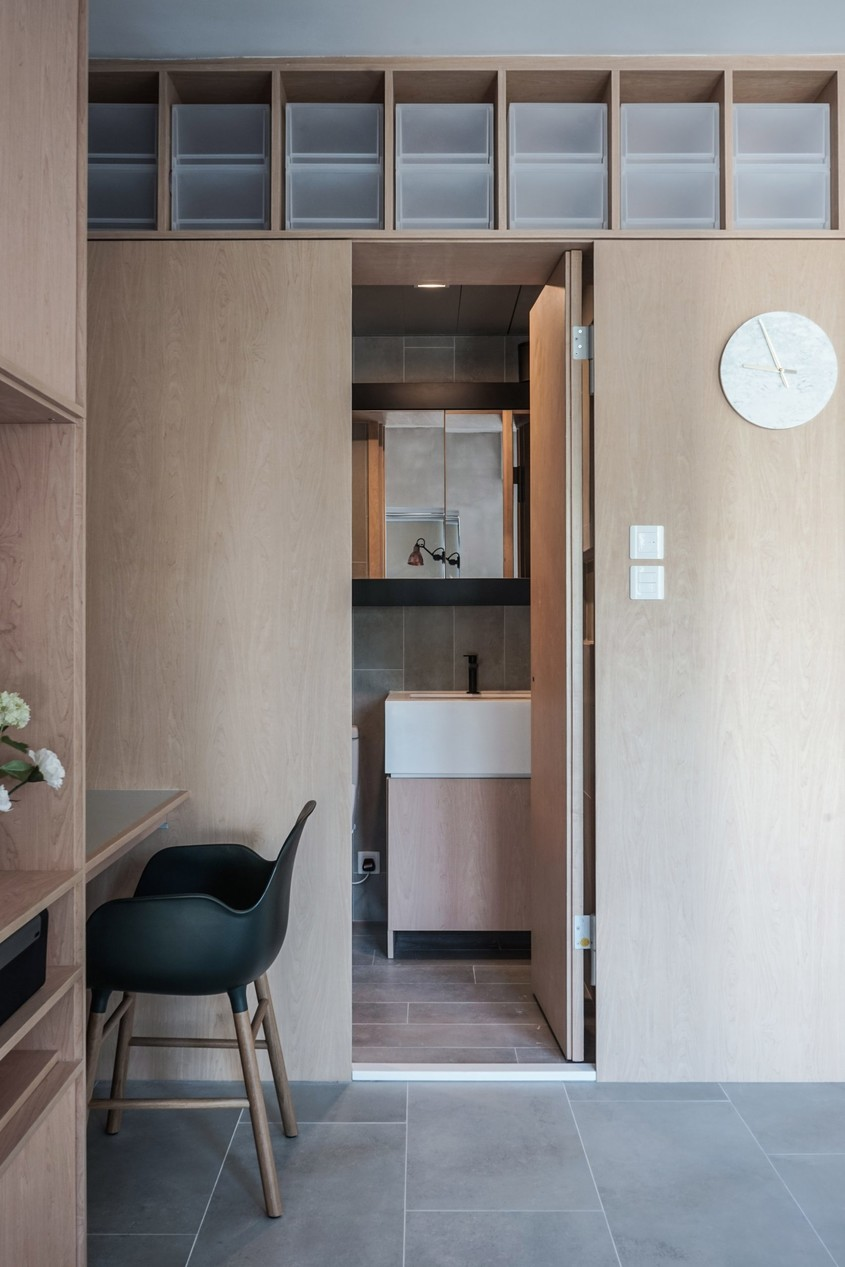 Reconfigurarea unui apartament din Hong Kong cu ajutorul mobilierului incastrat - Reconfigurarea unui apartament din Hong