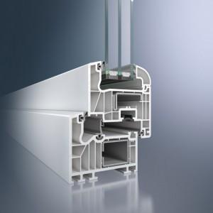 Profil din PVC pentru usi Schüco Corona SI 82 - Profil din PVC pentru usi Schüco Corona SI 82