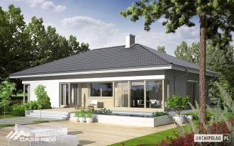 Casa pe structura metalica usoara - Morgan  - Casa pe zidarie Porotherm
