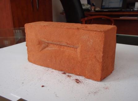 Caramida antichizata plina - Caramida aparenta Nelissen