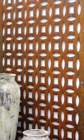 Decor din tabla din otel Corten - Tabla din otel