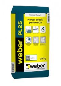 Mortar adeziv pentru BCA weber PL25 - Adeziv pentru BCA