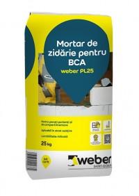 Mortar de zidarie pentru BCA weber PL25 - Adeziv pentru BCA