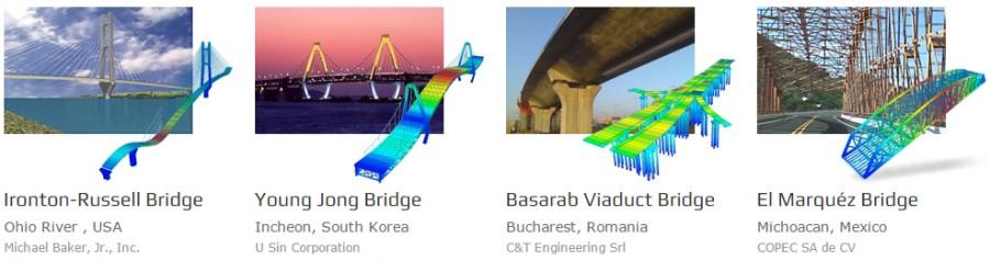 Exemple de utilizare Midas CIVIL - Software integrat pentru proiectarea si analiza structurilor complexe de poduri - Midas CIVIL