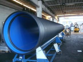 Teava HDPE ranforsata cu profil interior din otel galvanizat - Tevi spiralate HDPE