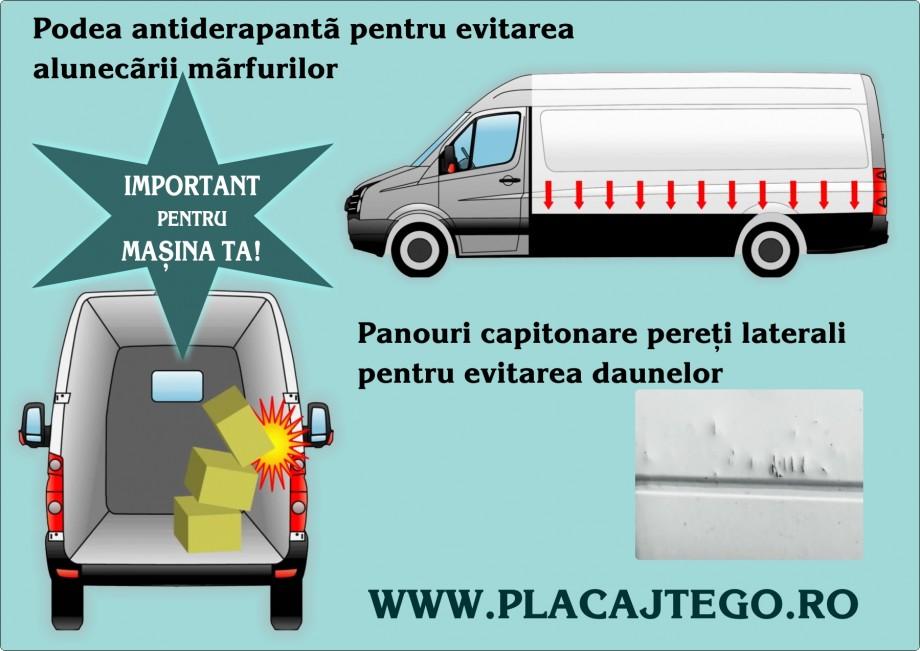 Capitonare pereti laterali, podele antiderapante - Capitonari si protectii laterale pentru autoutilitare cu Tego profesional