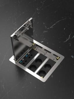 VersaFloor - Caseta pentru pardoseala tehnica - Blocuri de alimentare