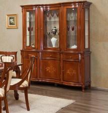 Bufet cu Vitrina 3 Usi md2 Firenze - Mobila sufragerie lemn masiv Firenze