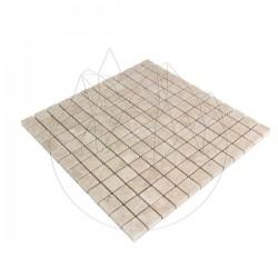 Mozaic Marmura Light Beige Polisata 2.3 x 2.3 cm - Piatra naturala panel