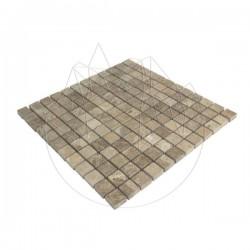 Mozaic Marmura Light Emperador Polisata 2.3 x 2.3 cm - Piatra naturala panel