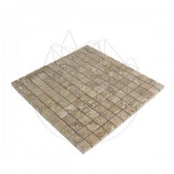 Mozaic Travertin Latte Polisat 2.3 x 2.3 cm - Piatra naturala panel