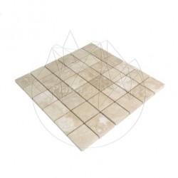 Mozaic Travertin Classic Polisat 4.8 x 4.8 cm - Piatra naturala panel