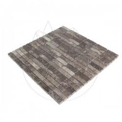 Mozaic Marmura Dark Emperador Polisata 4.7 x 1.4 cm - Piatra naturala panel