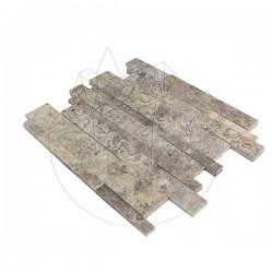 Mozaic Travertin Silver 3D Wall Polisat - Piatra naturala panel