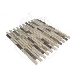 Mozaic Marmura Mix Marble Polisata 1.5 cm x Lungime Libera RSM 11 - Lichidare Stoc - Piatra naturala panel
